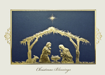 Holy Night Religious Christmas Cards