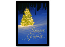 Shimmering Evergreen Holiday Cards